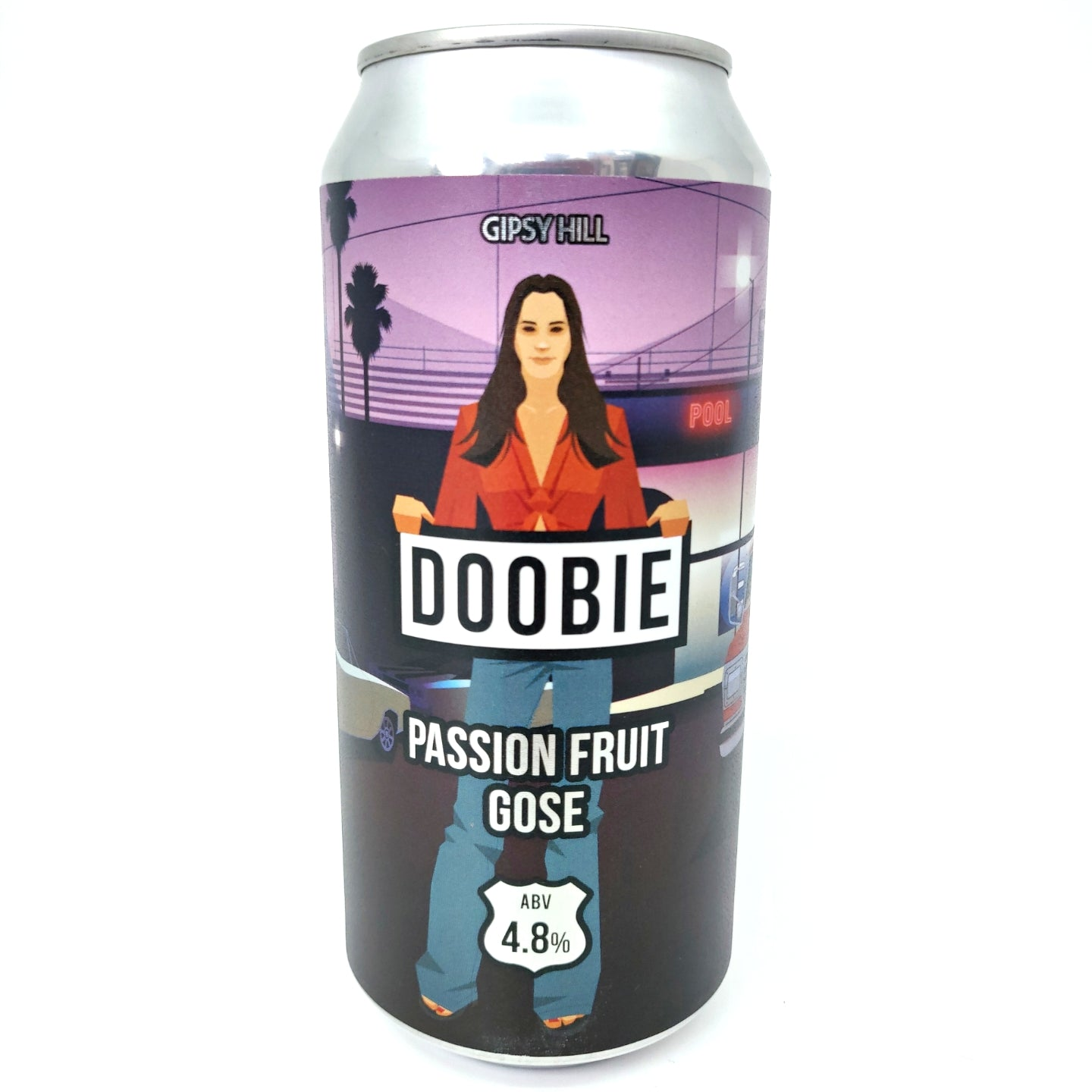 Gipsy Hill Doobie Passion Fruit Gose 4.8% (440ml can)-Hop Burns & Black
