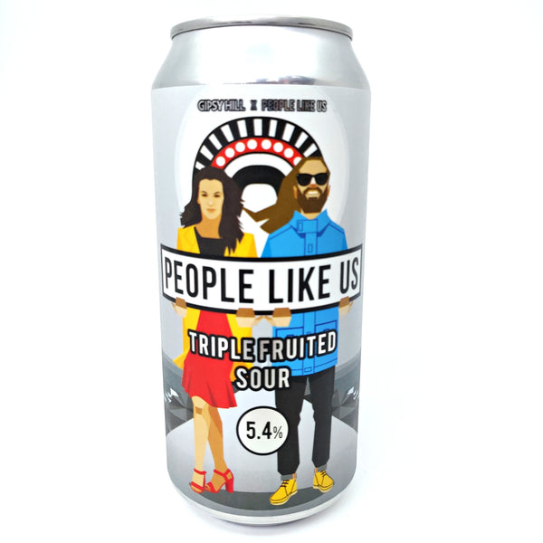 Gipsy Hill x People Like Us V2 Triple Fruited Sour 5.4% (440ml can)-Hop Burns & Black