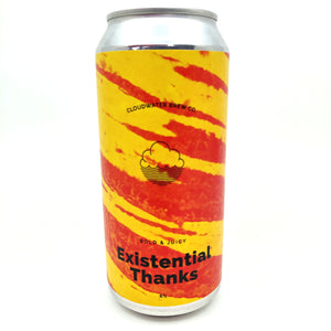 Cloudwater Existential Thanks DDH IPA 6% (440ml can)-Hop Burns & Black
