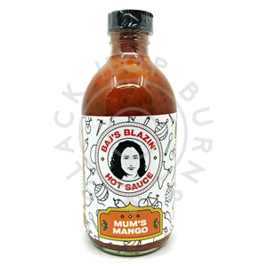 Baj's Blazin' Hot Sauce Mum's Mango Hot Sauce (240ml)-Hop Burns & Black