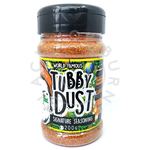 Tubby Tom's Tubby Dust Signature Seasoning (200g)-Hop Burns & Black