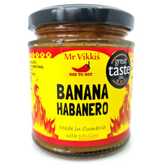 Mr Vikki's Banana Habanero Pickle (220g)-Hop Burns & Black