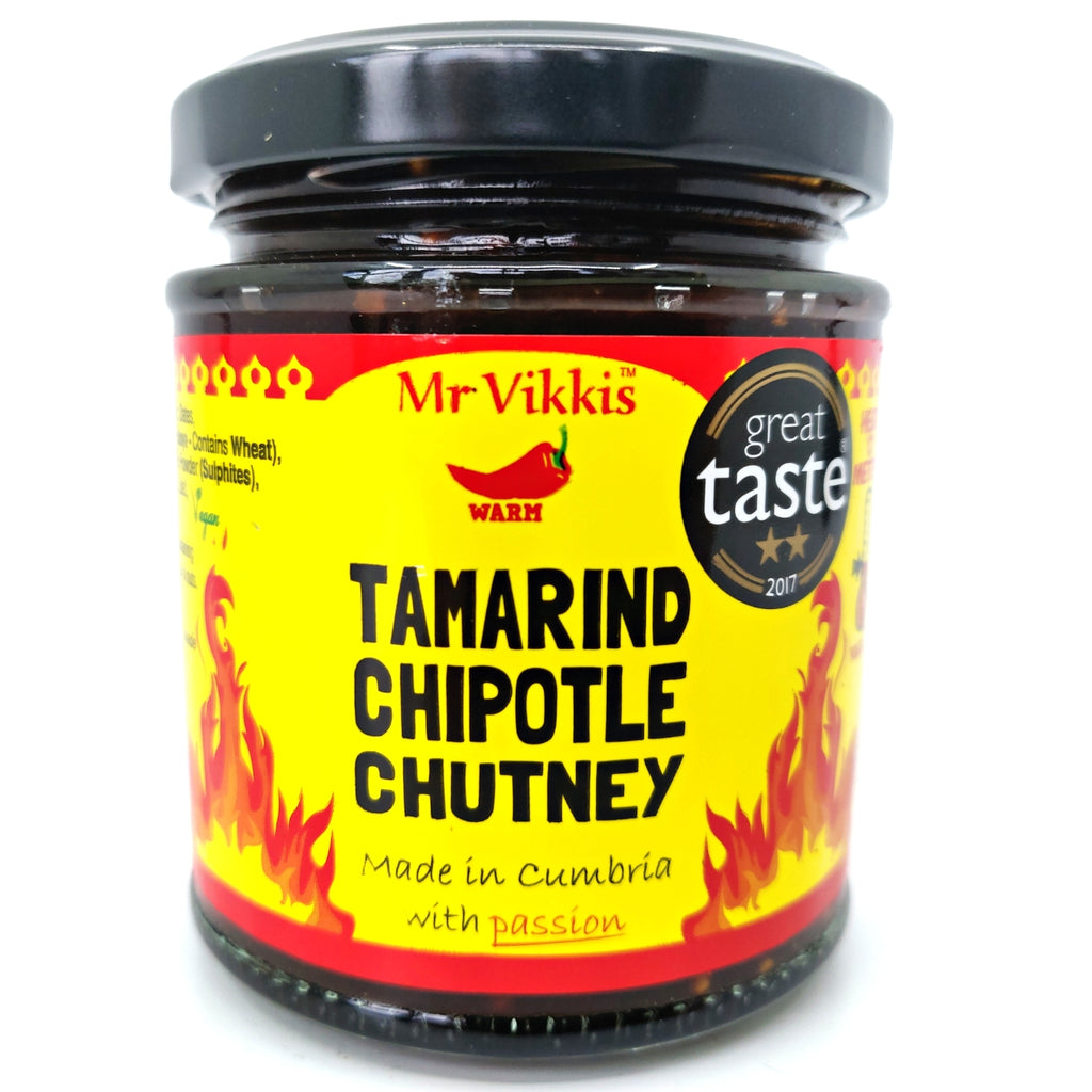 Mr Vikki's Tamarind Chipotle Chutney (220g)-Hop Burns & Black