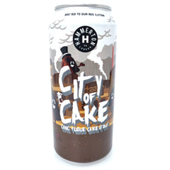 Hammerton Brewery City of Cake Milk Stout 5.5% (440ml can)-Hop Burns & Black