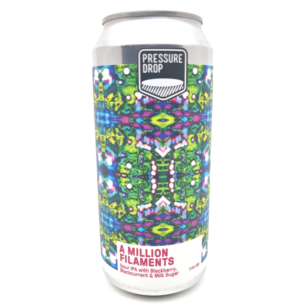 Pressure Drop A Million Filaments Blackberry & Blackcurrant Fruit Sour IPA 7.4% (440ml can)-Hop Burns & Black