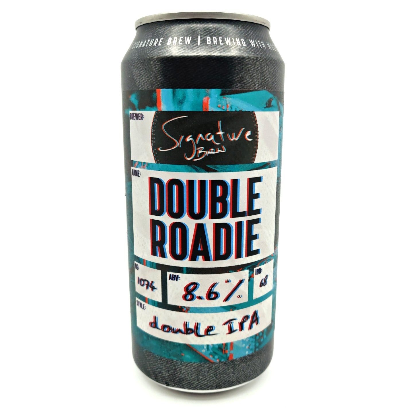 Signature Brew Double Roadie Double IPA 8.6% (440ml can)-Hop Burns & Black