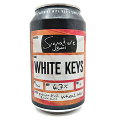 Signature Brew White Keys Passionfruit & Hibiscus Wheat Beer 4.7% (330ml can)-Hop Burns & Black