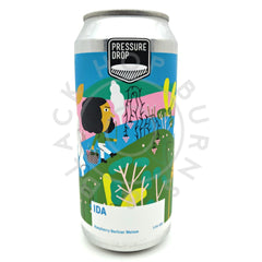 Pressure Drop Ida Raspberry Berliner Weisse Sour 3.8% (440ml can)-Hop Burns & Black