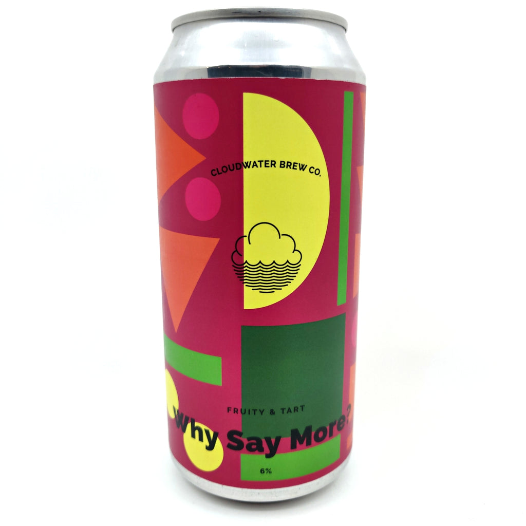 Cloudwater Why Say More? Sour IPA 6% (440ml can)-Hop Burns & Black