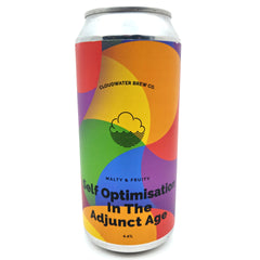 Cloudwater Self Optimisation In The Adjunct Age Bitter 4.4% (440ml can)-Hop Burns & Black