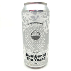Cloudwater Number Of The Yeast Quadruple IPA 12% (440ml can)-Hop Burns & Black