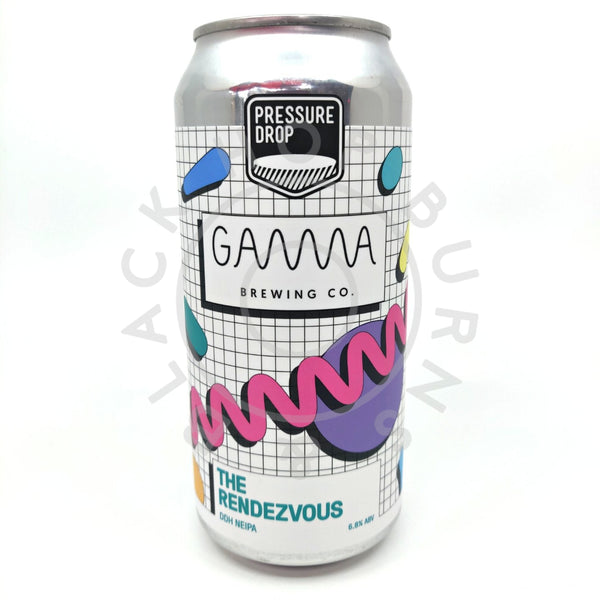 Pressure Drop x Gamma Brewing The Rendezvous IPA 6.8% (440ml can)-Hop Burns & Black
