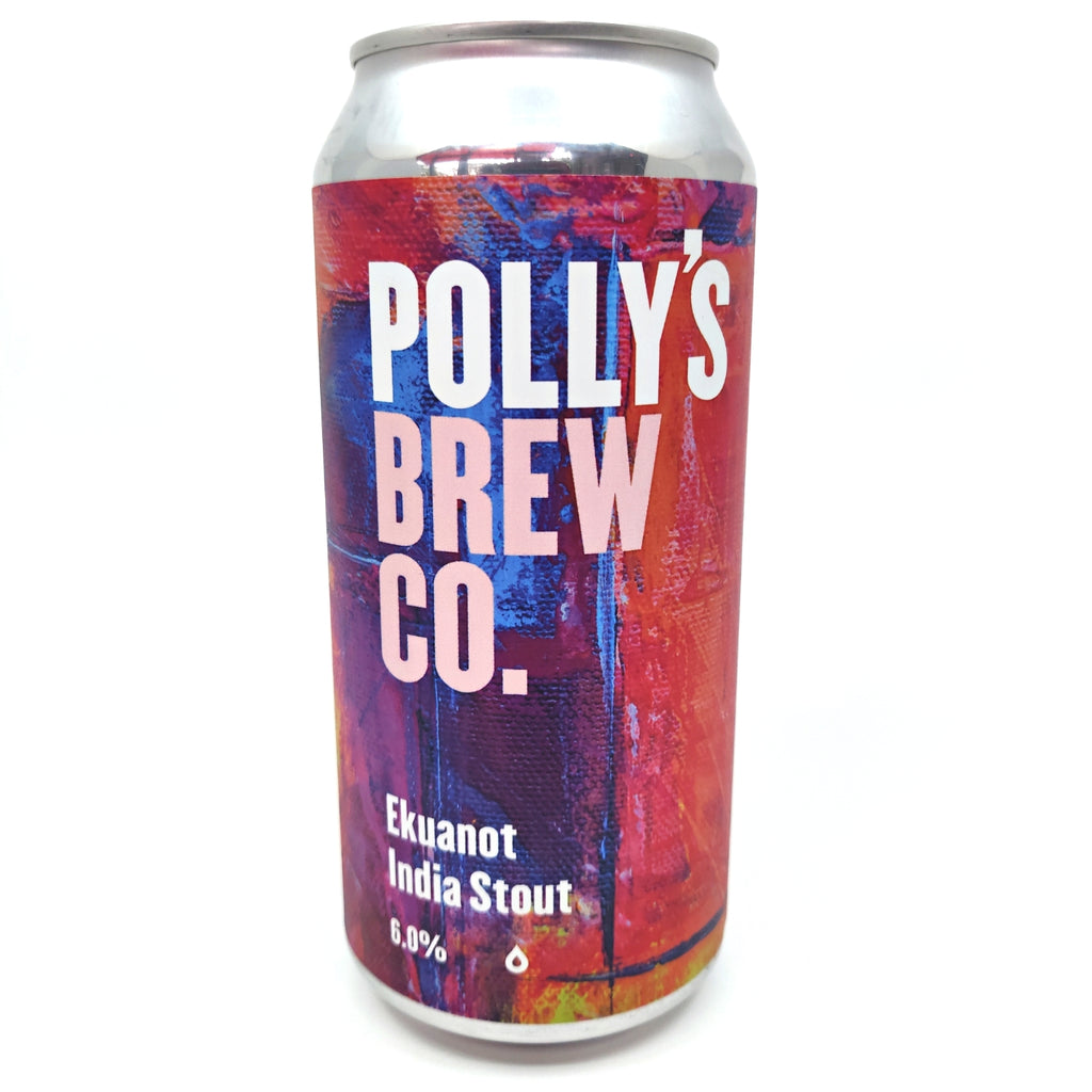 Polly's Brew Co Ekuanot Stout 6% (440ml can)-Hop Burns & Black