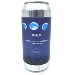 Verdant x Commonwealth Brewing There's Always Tomorrow DIPA 8% (440ml can)-Hop Burns & Black