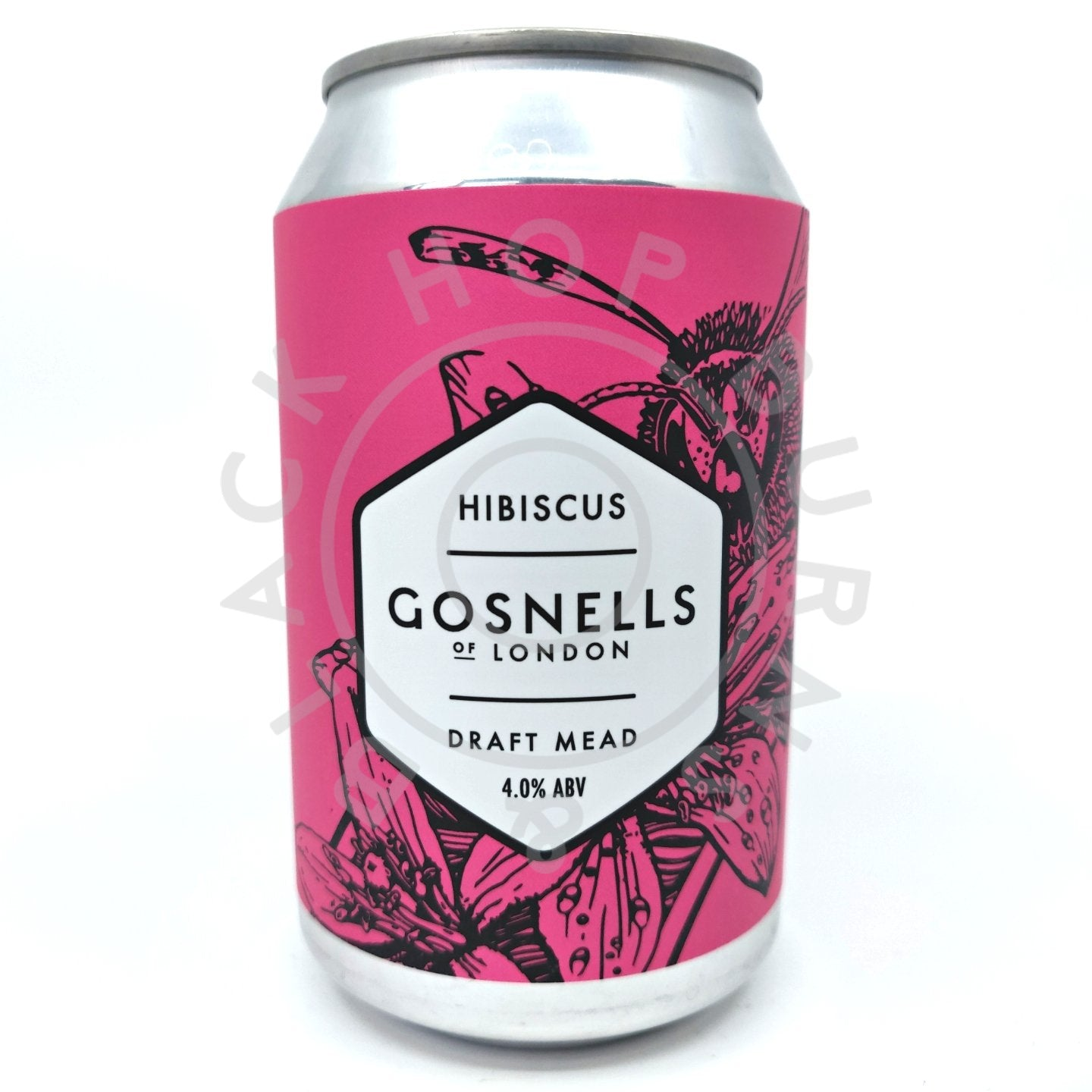 Gosnells Hibiscus Mead 4% (330ml can)-Hop Burns & Black