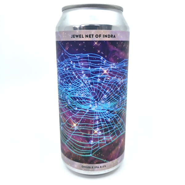 Gamma Brewing Jewel Net of Indra Double IPA 8% (440ml can)-Hop Burns & Black