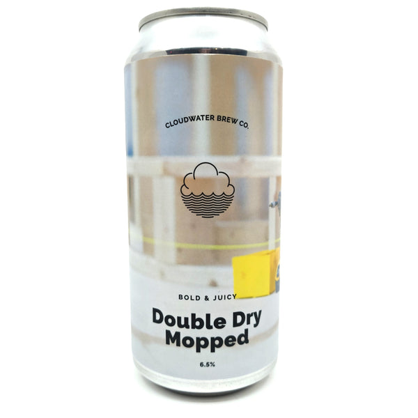 Cloudwater Double Dry Mopped IPA 6.5% (440ml can)-Hop Burns & Black