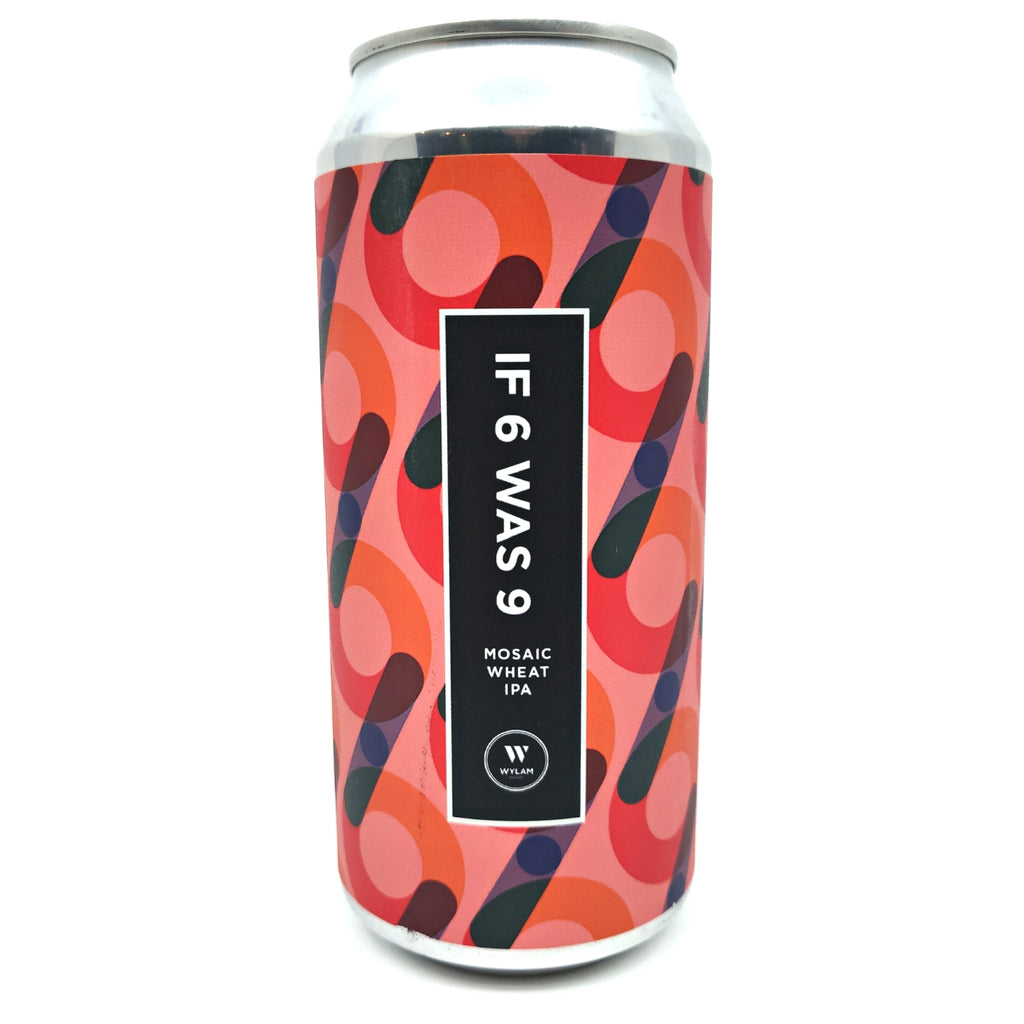 Wylam If 6 Was 9 Mosaic Wheat IPA 7% (440ml can)-Hop Burns & Black