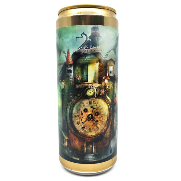 Wizard Brewing x Bottle Logic Time Flies Imperial Stout 12% (330ml can)-Hop Burns & Black