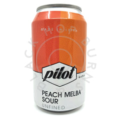 Pilot Peach Melba Sour 4.3% (330ml can)-Hop Burns & Black