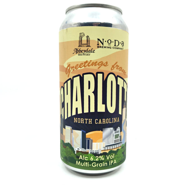 Abbeydale Greetings From Charlotte North Carolina IPA 6.2% (440ml can)-Hop Burns & Black