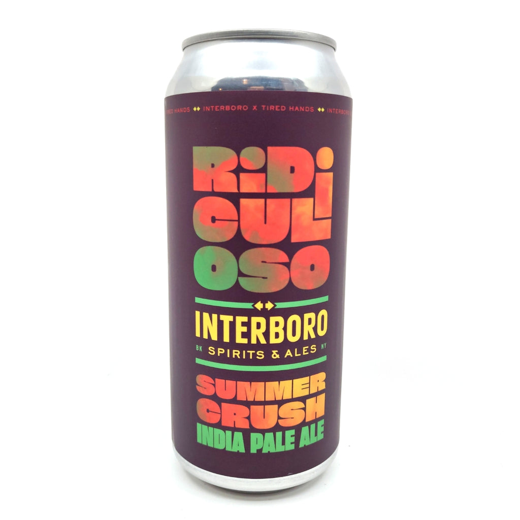 Interboro x Tired Hands Ridiculoso Summer Crush IPA 5.6% (473ml can)-Hop Burns & Black