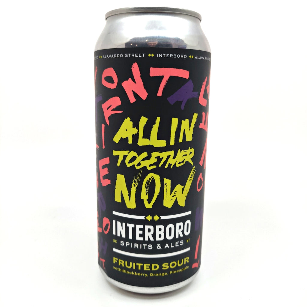 Interboro x Alvarado Street All In Together Now Fruited Sour 5.5% (473ml can)-Hop Burns & Black