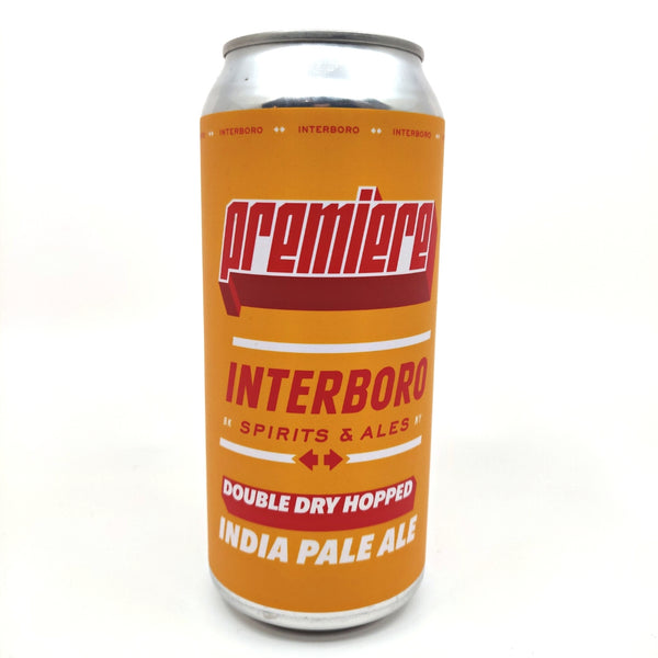 Interboro Premiere DDH IPA 6% (473ml can)-Hop Burns & Black
