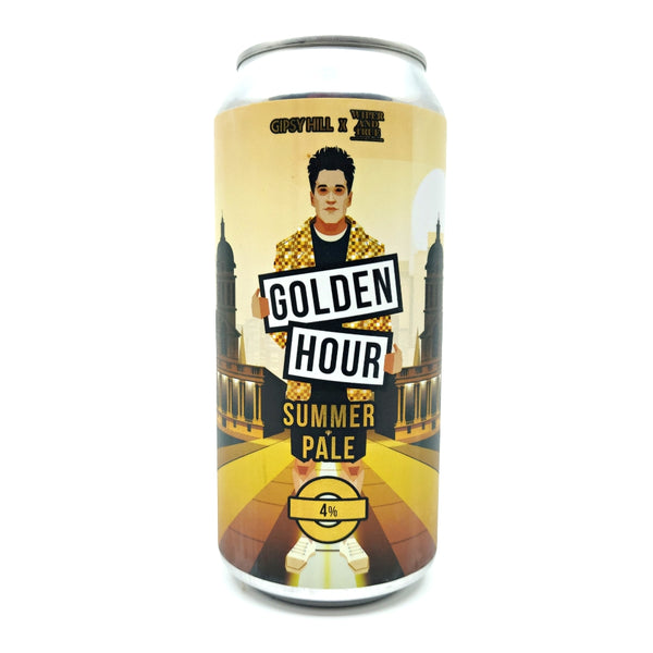 Gipsy Hill x Wiper & True Golden Hour Summer Pale 4% (440ml can)-Hop Burns & Black