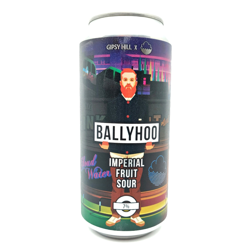 Gipsy Hill x Cloudwater Ballyhoo Imperial Fruited Sour 7% (440ml can)-Hop Burns & Black