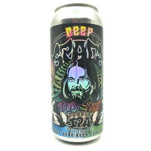 Half Acre Deep Space Double IPA 10% (473ml can)-Hop Burns & Black