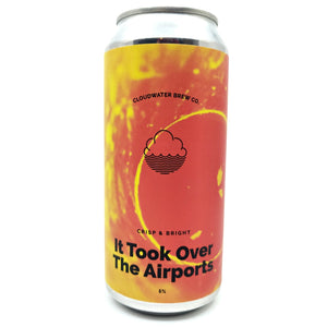 Cloudwater It Took Over The Airports Pilsner 5% (440ml can)-Hop Burns & Black
