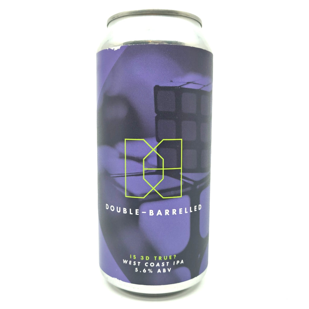 Double Barrelled Is 3D True? IPA 5.6% (440ml can)-Hop Burns & Black
