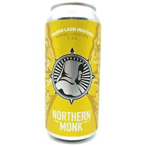 Northern Monk Mango Lassi Heathen IPA 7.2% (440ml can)-Hop Burns & Black