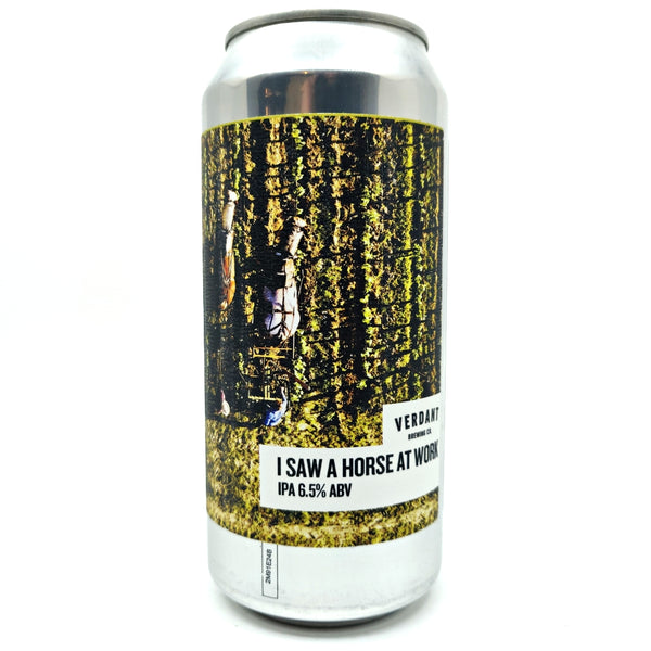 Verdant I Saw A Horse At Work IPA 6.5% (440ml can)-Hop Burns & Black