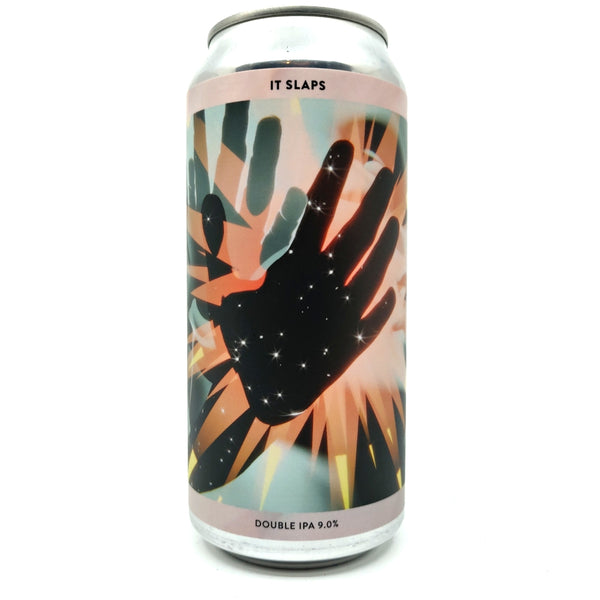 Gamma Brewing It Slaps Double IPA 9% (440ml can)-Hop Burns & Black
