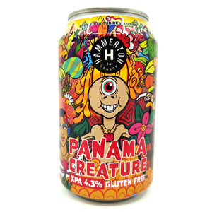 Hammerton Brewery Panama Creature Gluten-Free Pale Ale 4.3% (330ml can)-Hop Burns & Black