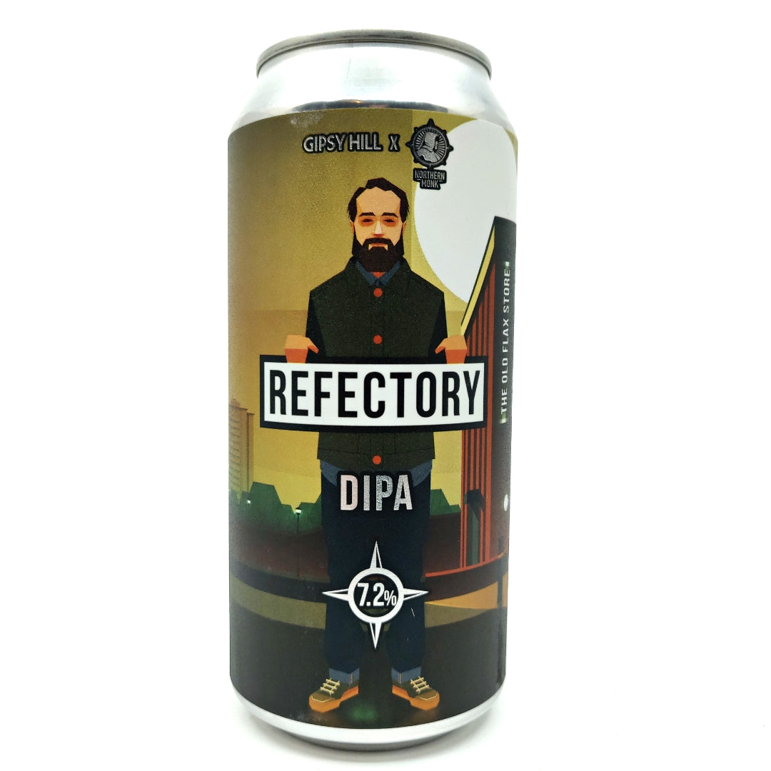 Gipsy Hill x Northern Monk Refectory Double IPA 7.2% (440ml can)-Hop Burns & Black