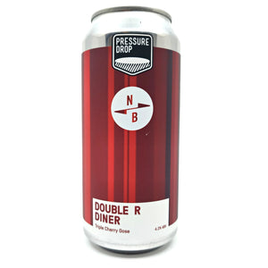 Pressure Drop x North Brewing Double R Diner Triple Cherry Gose 4.2% (440ml can)-Hop Burns & Black