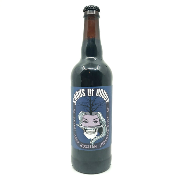 Escape Brewing Seeds of Doubt BA Russian Imperial Stout 11% (650ml)-Hop Burns & Black