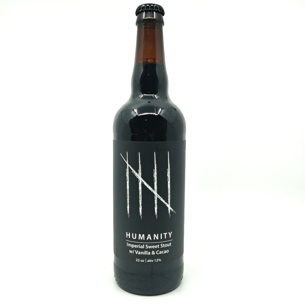 Escape Brewing Humanity Vanilla % Cacao Imperial Sweet Stout 12% (650ml)-Hop Burns & Black