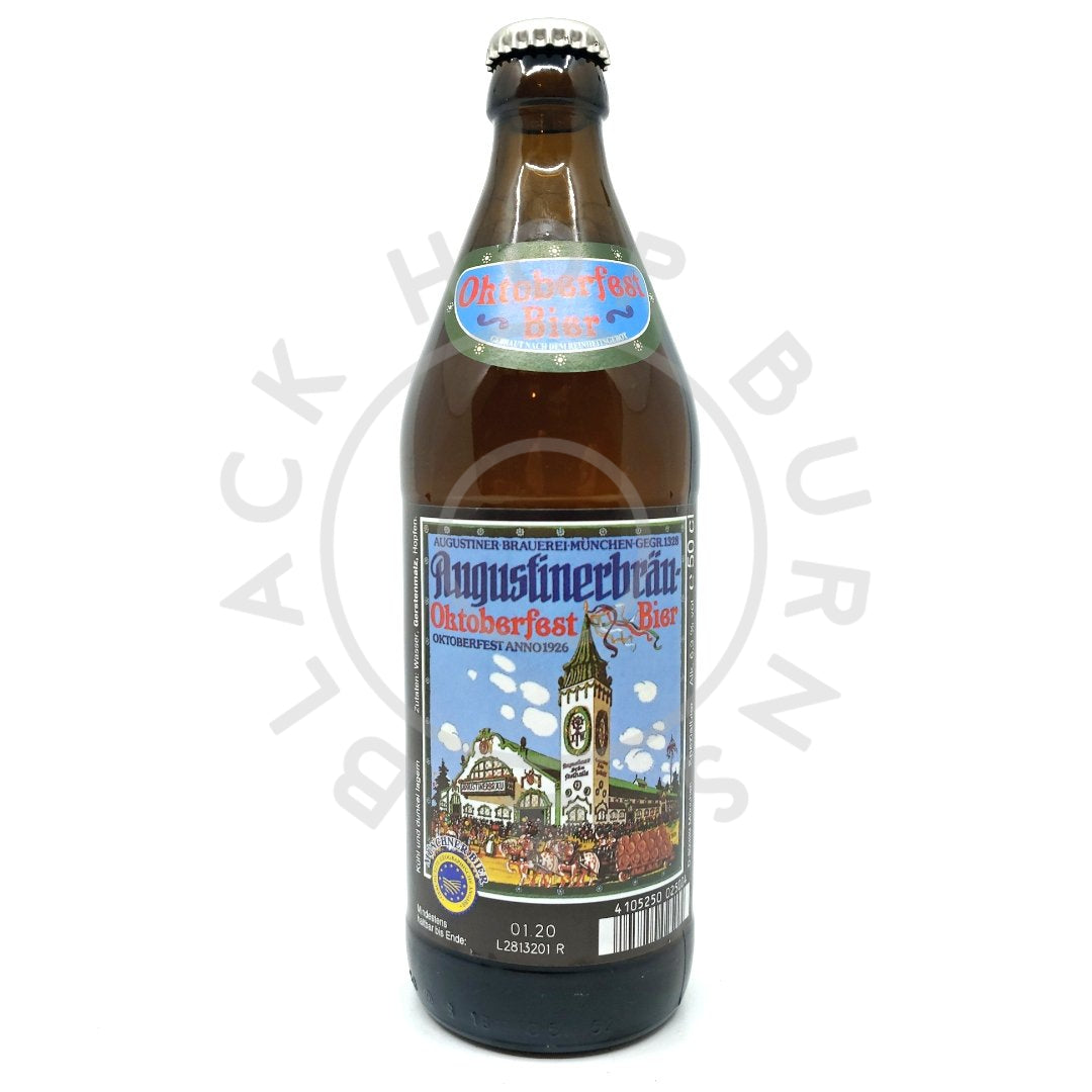 Augustiner Oktoberfest Lager 6.3% (500ml)-Hop Burns & Black