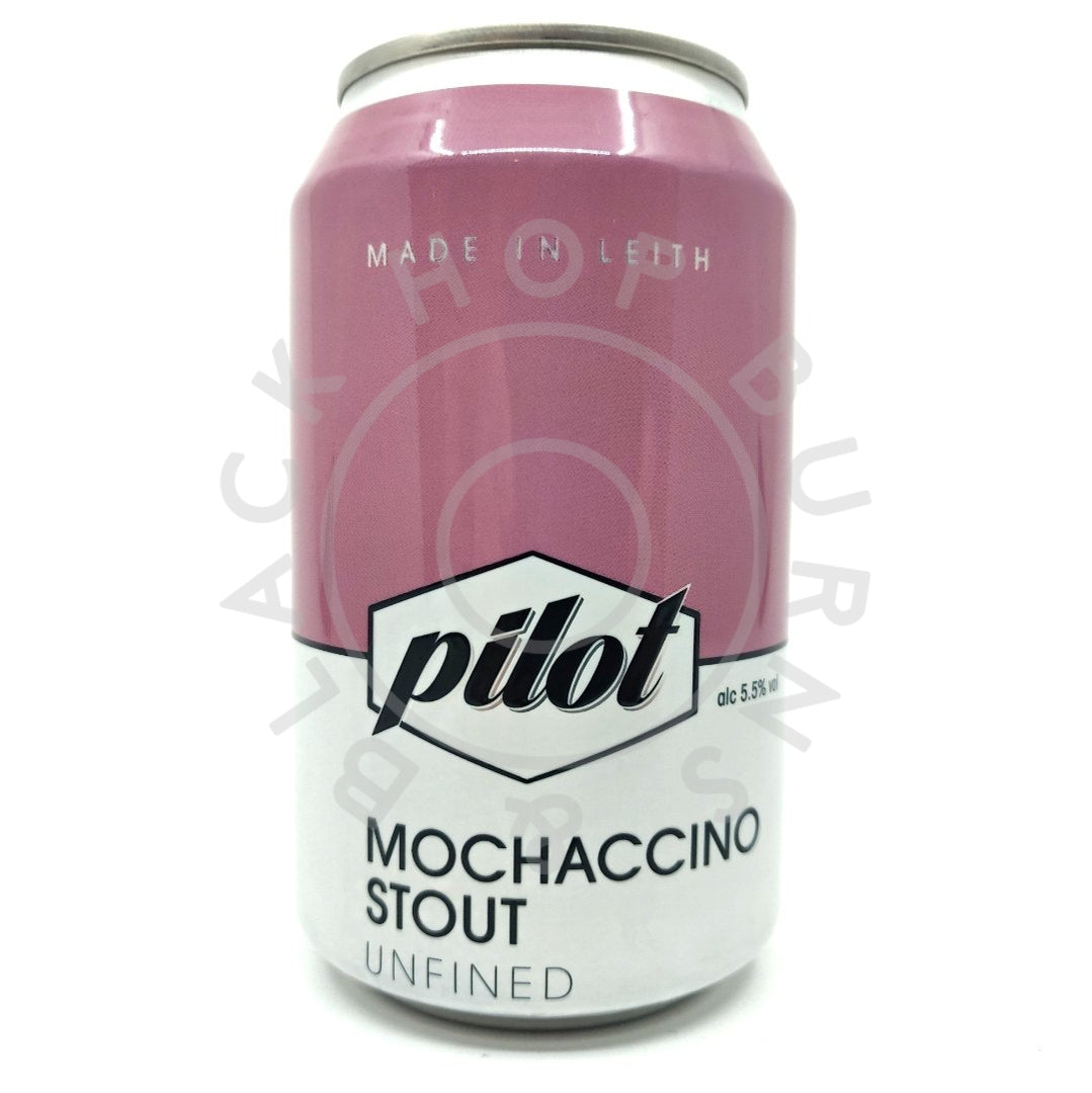 Pilot Mochaccino Stout 5.5% (330ml can)-Hop Burns & Black