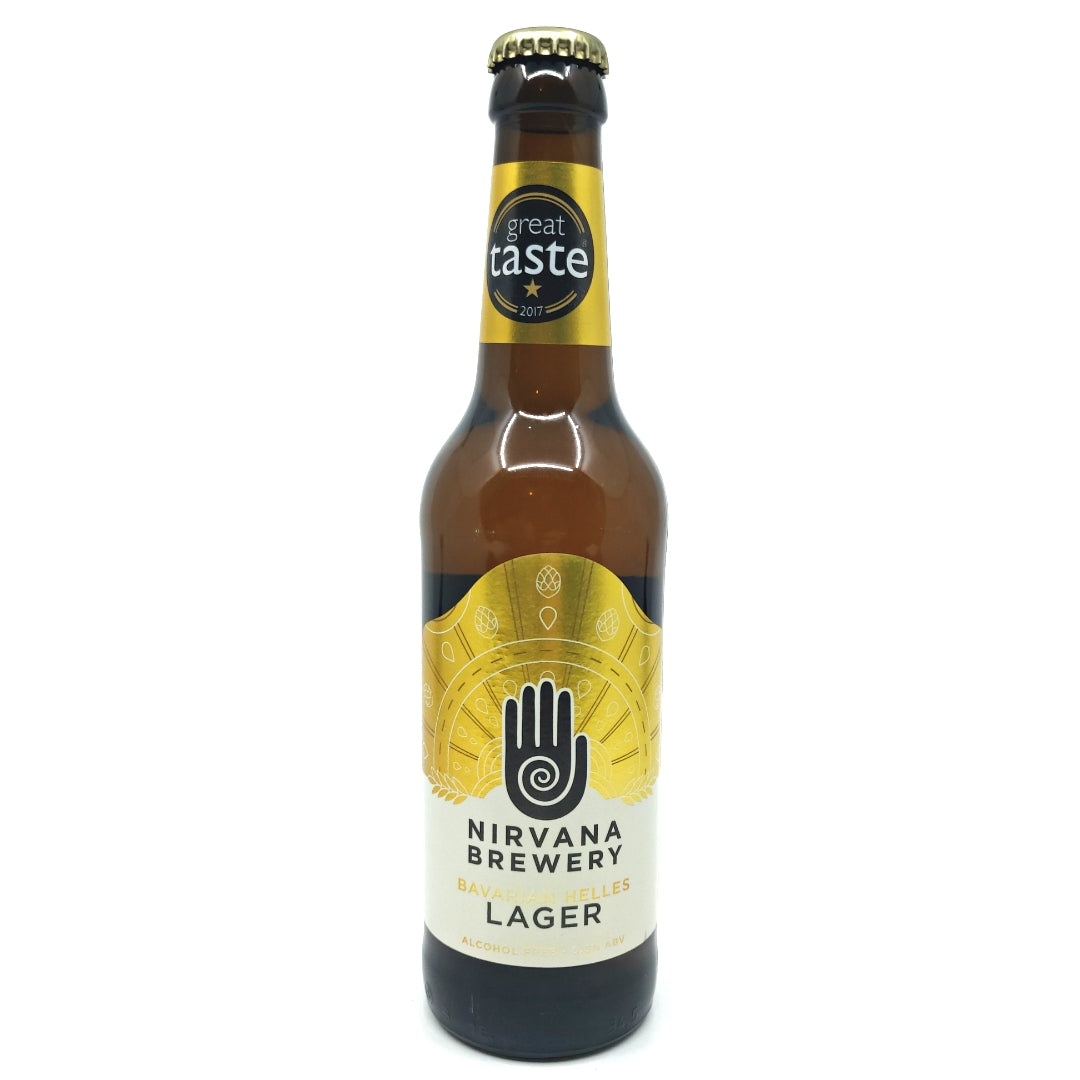 Nirvana Alcohol Free Bavarian Helles Lager (330ml)-Hop Burns & Black