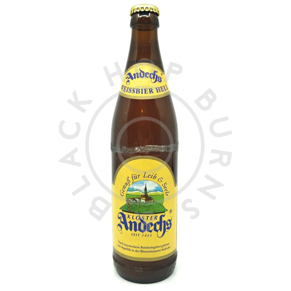 Andechser Weissbier Hell 5.5% (500ml)-Hop Burns & Black