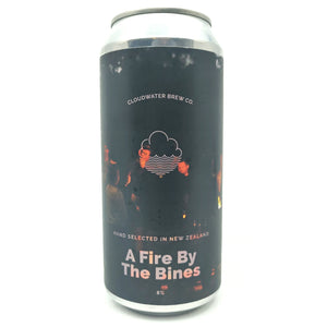 Cloudwater A Fire By The Bines DIPA 8% (440ml can)-Hop Burns & Black