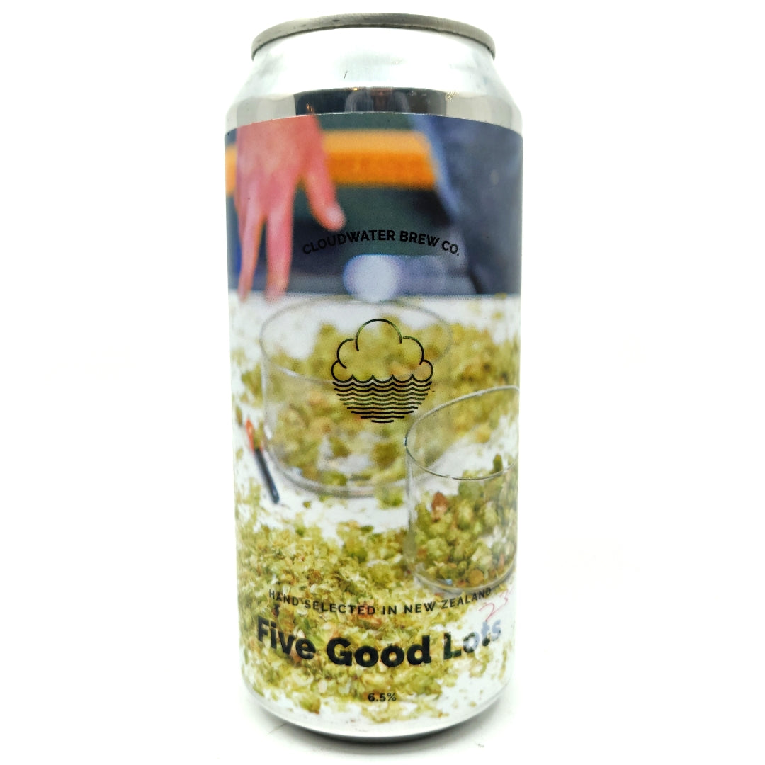 Cloudwater Five Good Lots IPA 6.7% (440ml can)-Hop Burns & Black