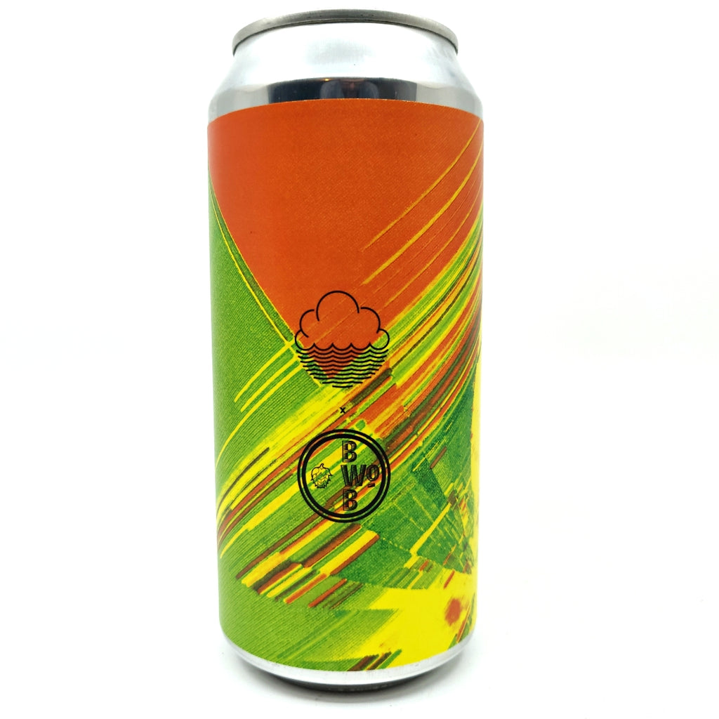 Cloudwater Let's Make It Our Time Wheat Beer 4% (440ml can)-Hop Burns & Black