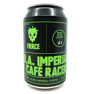 Fierce Beer B.A. Imperial Cafe Racer Imperial Porter 9% (330ml can)-Hop Burns & Black