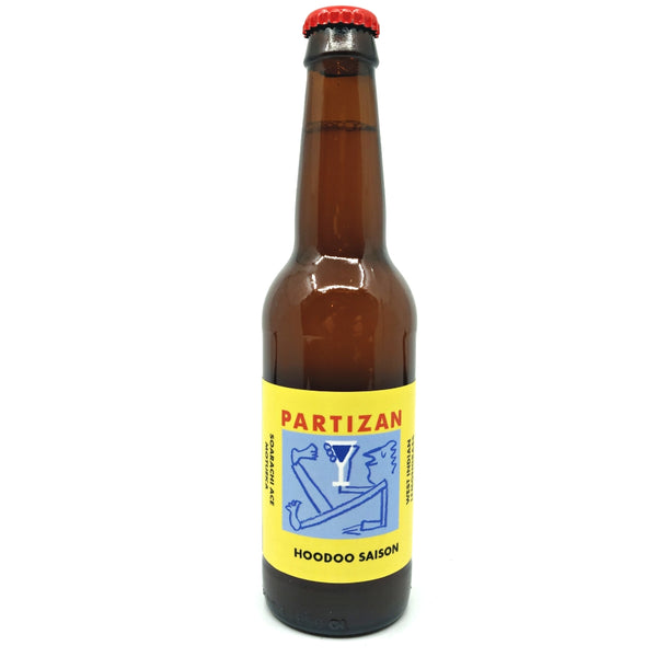 Partizan Hoodoo Saison 3.8% (330ml)-Hop Burns & Black